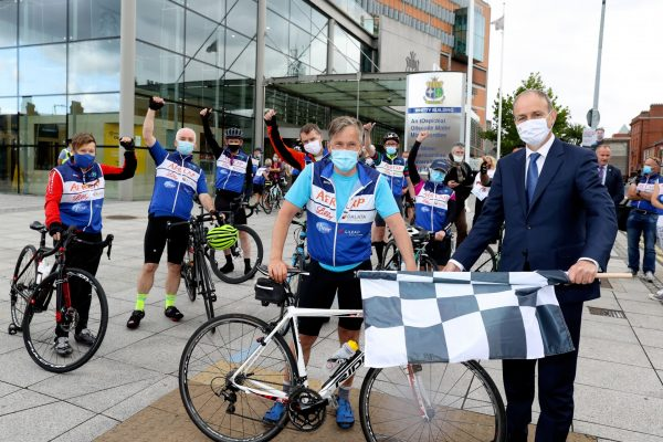 Promotion of the ICU4U charity cycle which raised €110k